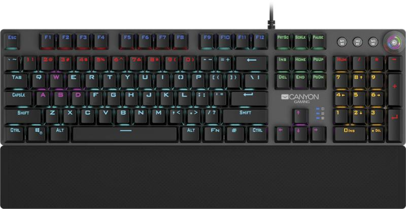 Геймърска клавиатура Canyon Nightfall - идеи за коледни подаръци